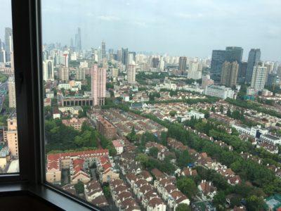 上海ヒルトンラウンジからの眺め